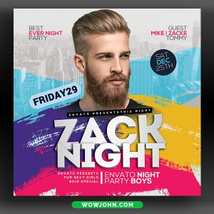 Open Air Party Flyer Template Psd Download