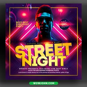 Night Club Beats Flyer Template Psd Download
