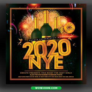 2022 New Year Flyer Template Psd Download
