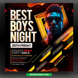 Boys Night Club Flyer Template Psd Download