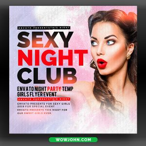 Sexy Night Party Flyer Template Photoshop