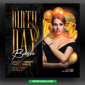 Birthday Bash Party Flyer Template Download