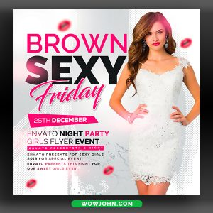 Sexy Girls Party Flyer Template Download Psd