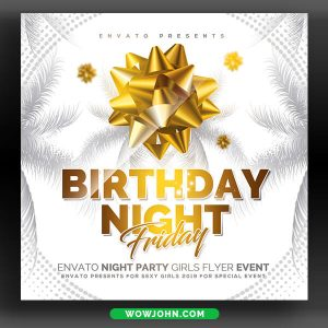 Birthday Night Party Flyer Psd Template Free
