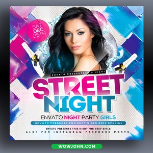Free Hiphop Night Club Flyer Template Psd
