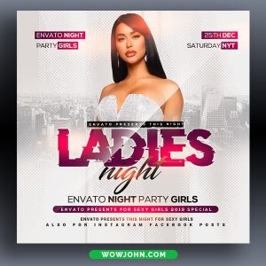 Free Scandal Night Club Flyer Template Psd