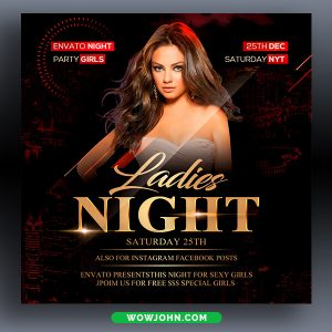 Party Name Night Club Flyer Template Psd