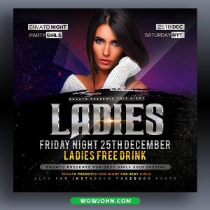 Free Saturday Night Club Flyer Template Psd