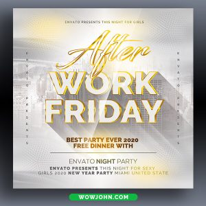 After Work Party Flyer Template Psd Download