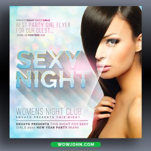 Fashion Night Party Flyer Template Psd Design