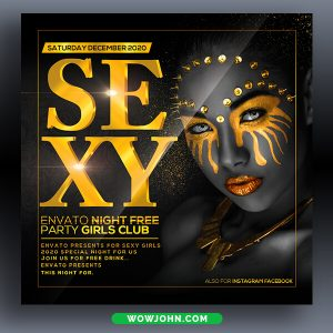 Black and Gold Psd Flyer Template Download