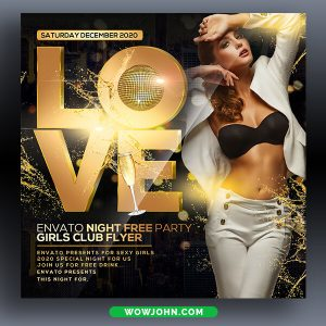 Club Party Premium Psd Flyer Template Download
