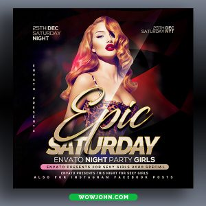 Epic Saturday Party Flyer Psd Template