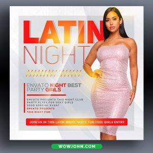 Latin Nightclub Party Psd Flyer Template
