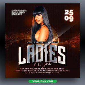 Girls Nightclub Party Flyer Psd Template