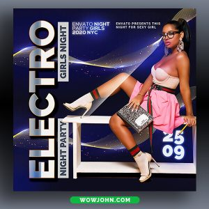 Electro Nightclub Party Flyer Psd Template