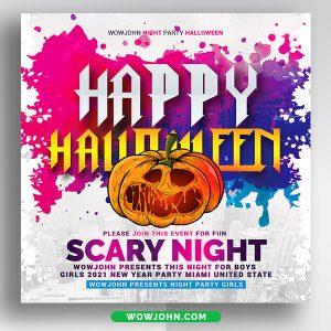 Halloween Kids Party Flyer Psd Template