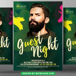 Dj Guest Night Club Psd Flyer Template