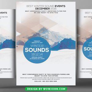 Minimal Music Sound Psd Flyer Template