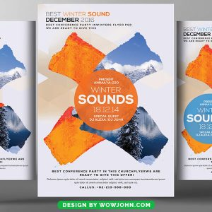 Free Music Sound Psd Flyer Template