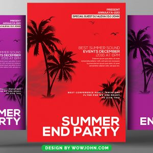 Summer End Party Psd Flyer Template