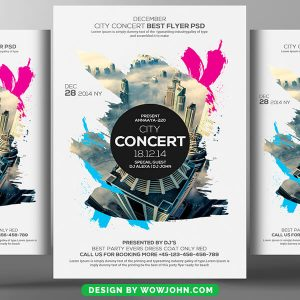 City Concert Psd Flyer Template Free Download