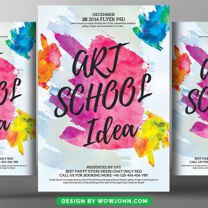 Free Art School Psd Flyer Template