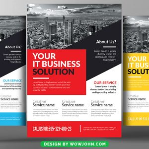 It Business Corporate Psd Flyer Template