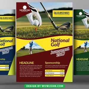 Golf Charity Psd Flyer Template