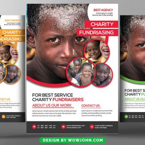 Kids Charity Donation Psd Flyer Template