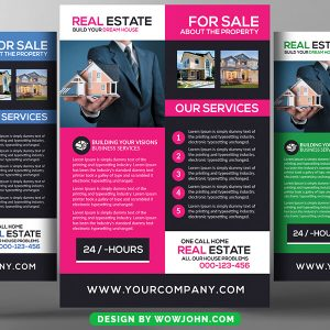 Real Estate Investment Psd Flyer Template