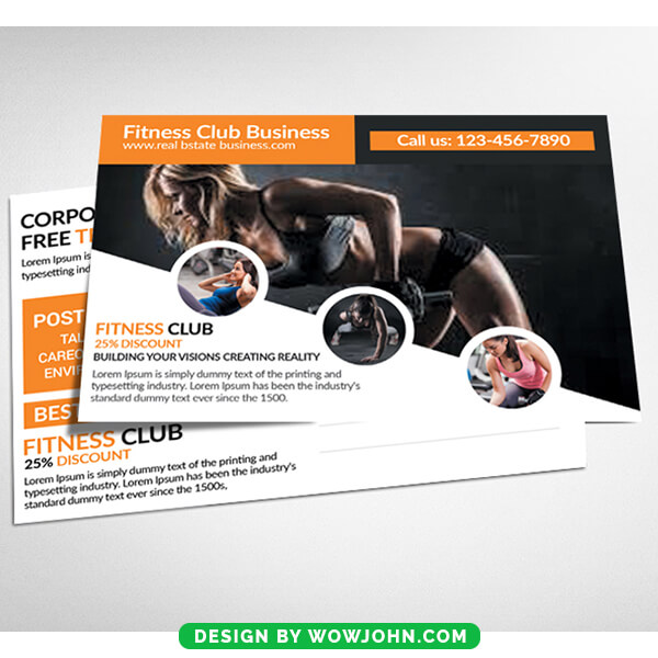 Fitness Health Postcard Psd Template Download