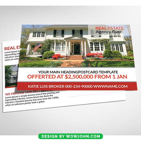 Real Estate Listings Postcard Psd Temlate