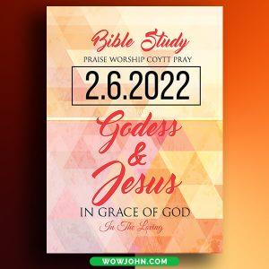 Free Bible Study Church Psd Flyer Template